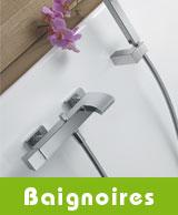 Mélangeurs de baignoire et mitigeurs bain/douche thermostatiques