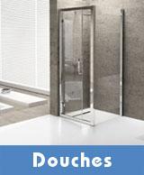 Douches : parois, receveur et cabine de douche