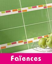 Carreaux de faïence cuisine et salle de bains