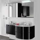 PYRAM meuble salle de bains Pastel noir
